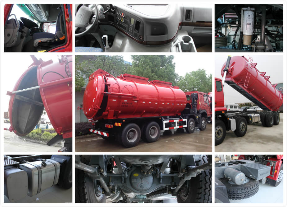 HOWO SECTION SEWAGE TRUCK